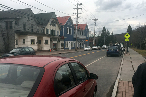 Main Street of the Town of Hunter in New York.