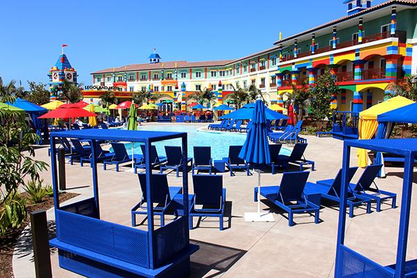 The pool at LEGOLAND California Resort