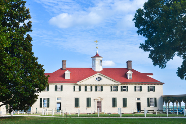 Mount Vernon, home of George Washington.