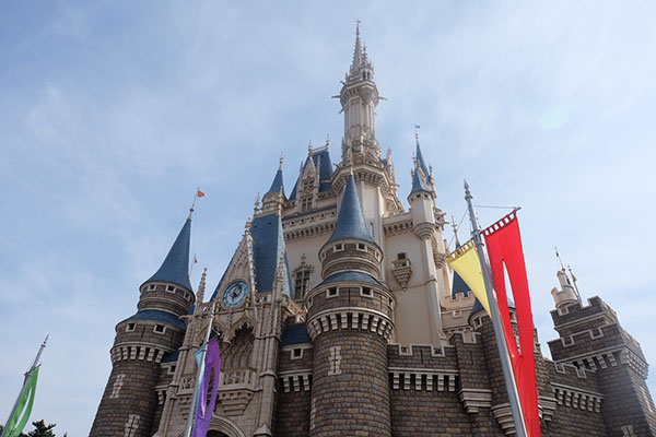 The princesses castle at Disney World.