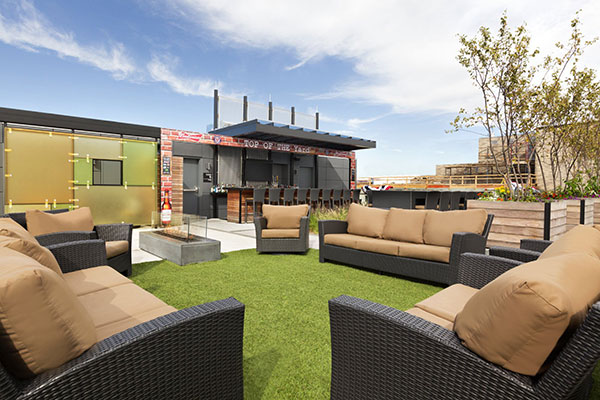 The Rooftop Lounge at Hampton Inn & Suites Navy Yard.
