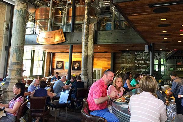 Southerleigh Fine Food & Brewery in San Antonio, Texas.