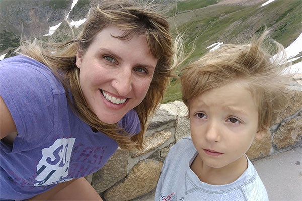 Mother and son lost in the Rockies.