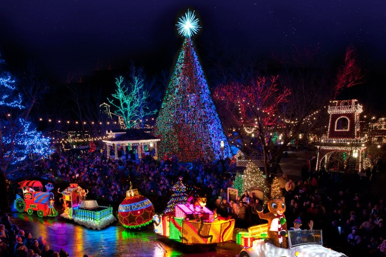 Old-Time Christmas at Silver Dollar City in Branson, Missouri; Courtesy of Silver Dollar City Attractions