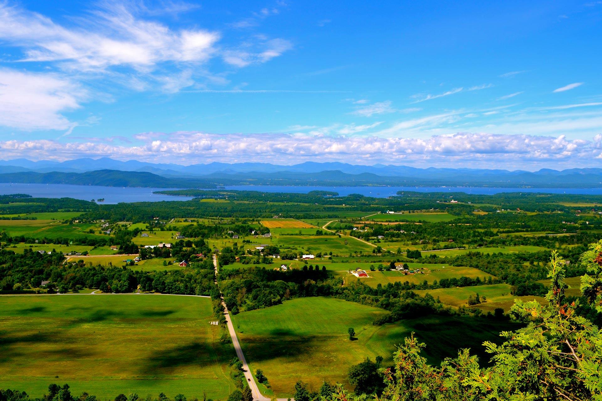 Lake Champlain, Vermont, USA.