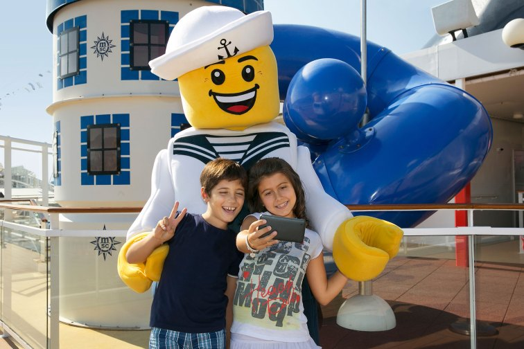 LEGO Character with Kids on MSC Cruises