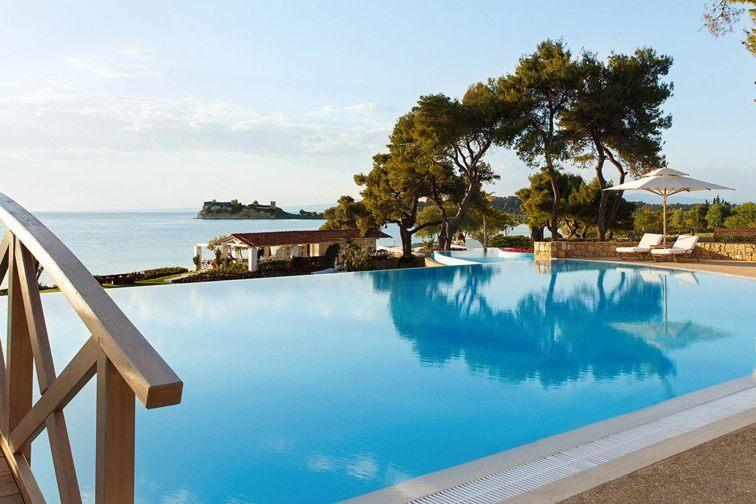 Sani Beach Resort in Kassandra peninsula, Greece
