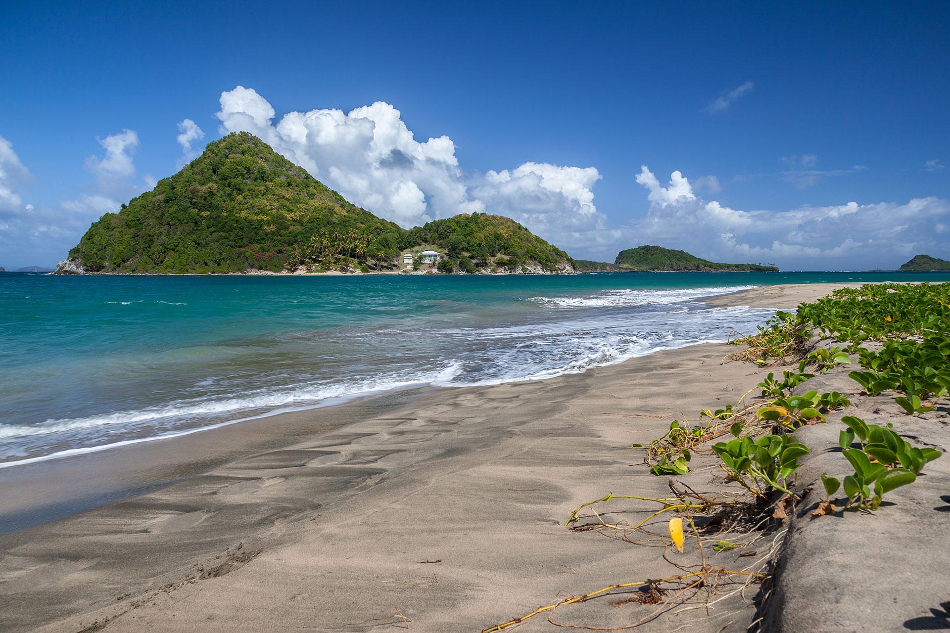 Black-sand beaches in Grenada