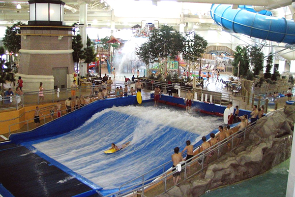 Water Park of America at the Mall of America in Bloomington, Minnesota.