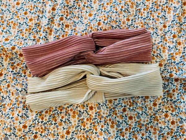 oudroze plissé haarband