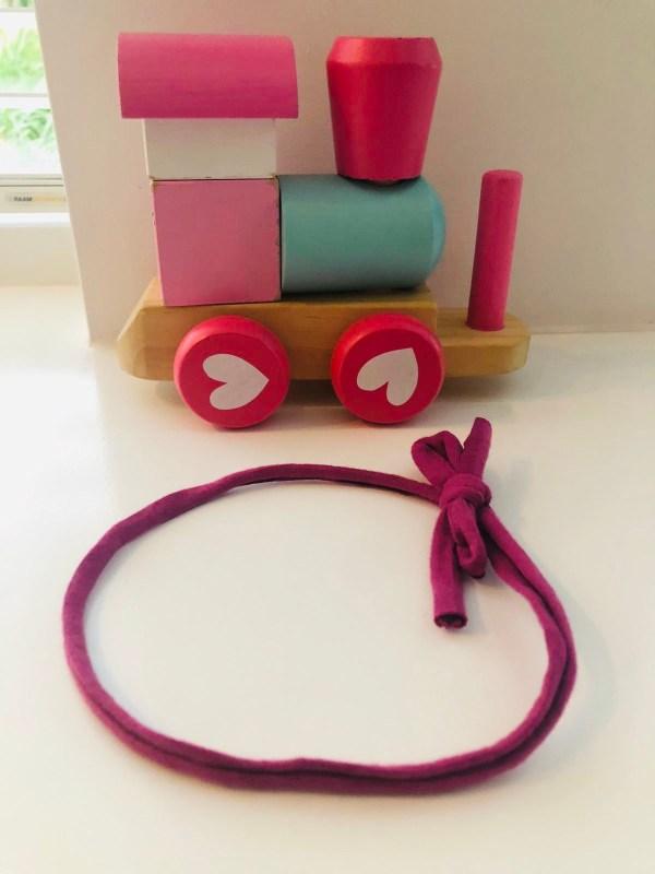 Smal haarbandje roze (enkel)