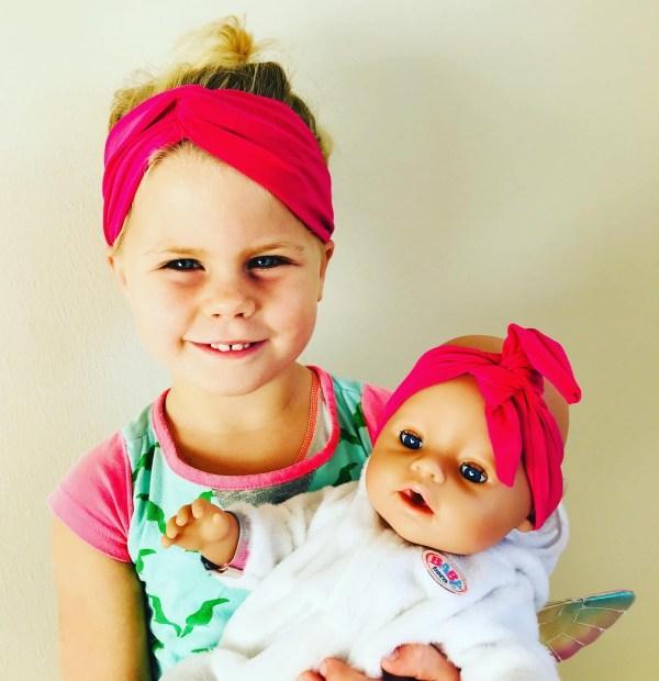 Haarbandenset voor poppenmoeder en pop
