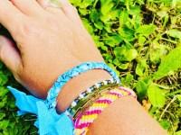 Bandana armband aquablauw