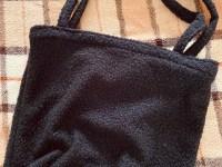 Mombag zwart bouclé