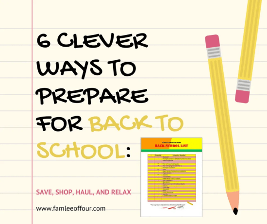 The list gives great tips to prepare for back to school without spend tons of money. The Printable helped.