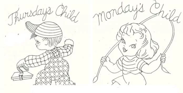 These Monday's Child Coloring Pages are Not Sour and Sad