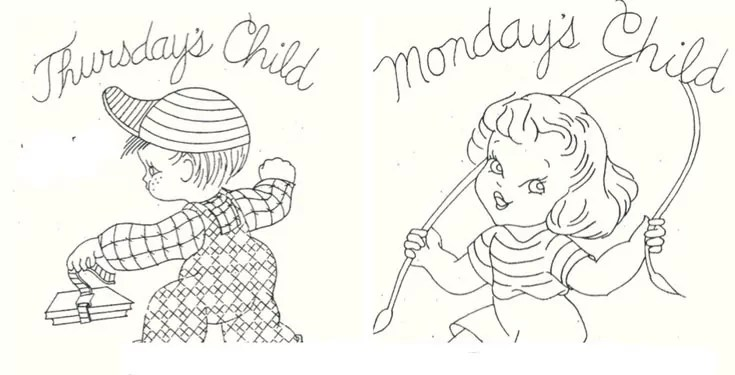 These Mondays Child Coloring Pages Are Not Sour And Sad Famlii