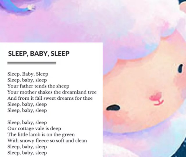 Click To Download A Pdf Printable Of Sleep Baby Sleep Lyrics