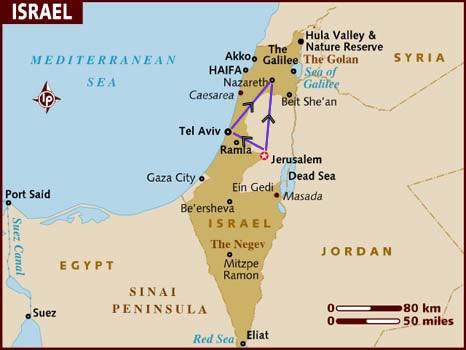 itinerario di viaggio in Israele