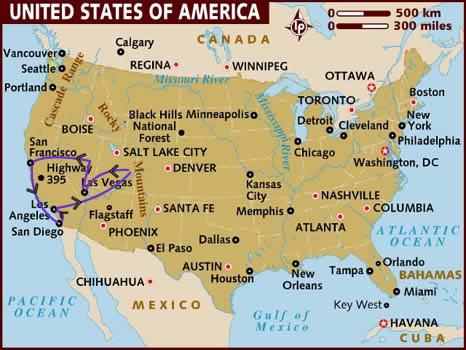 itinerario di viaggio negli USA occidentali