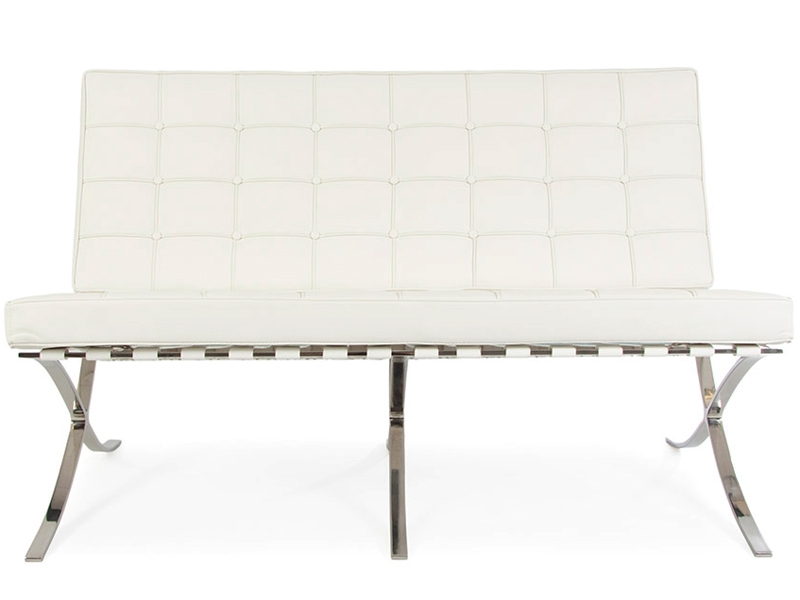 Barcelona sofa 2 seater  White