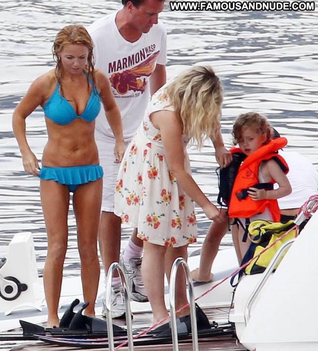 Geri Halliwell Babe Beautiful Toples Yacht Bikini Topless Hot Nipples