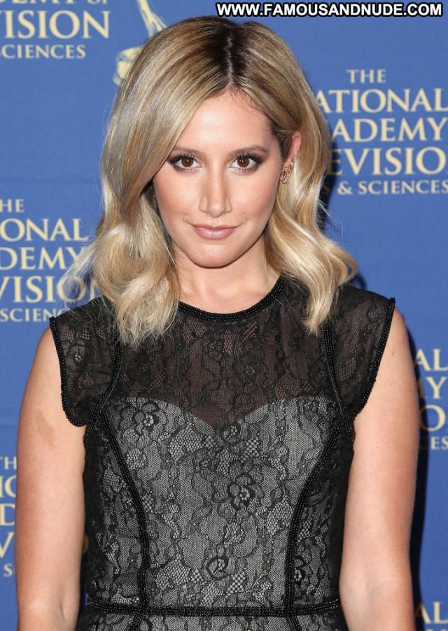 Ashley Tisdale Emmy Awards Beautiful Babe Awards Posing Hot Celebrity