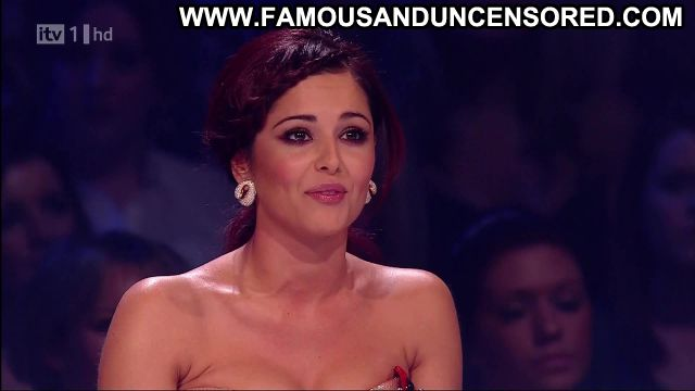 Cheryl Cole X Factor Showing Cleavage Redhead Actress Female