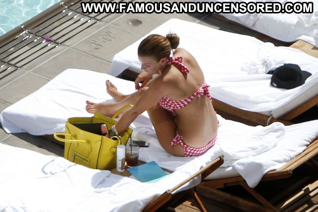 Coleen Mcloughlin Brown Hair Pool Bikini Beautiful Celebrity