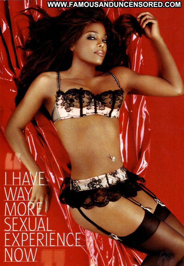 Janet Jackson Hot Cute Posing Hot Lingerie Famous Celebrity Babe