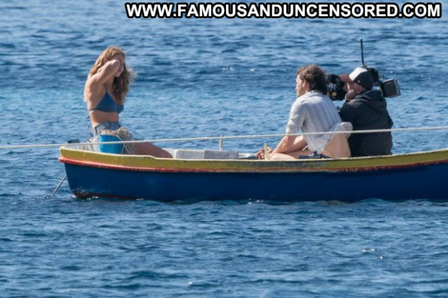 Lily James Mamma Mia Babe Croatian Bikini Beautiful Paparazzi Posing
