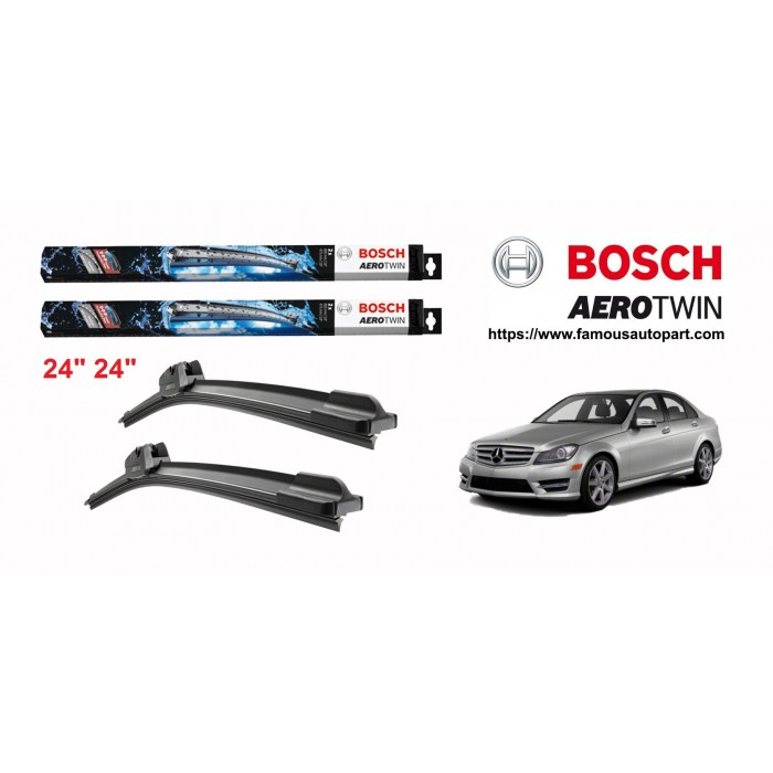 Bosch Aerotwin Multi-Clip Wiper Blades For Mercedes C