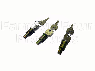 Lock Barrels with 2 Keys (FF009514) for Land Rover Series
