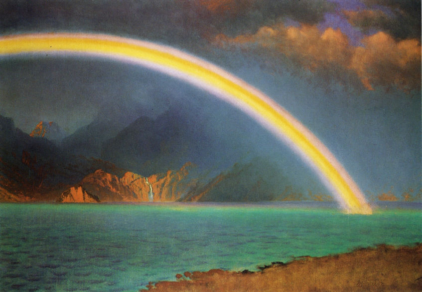 Rainbow Over Jenny Lake Wyoming by Albert Bierstad