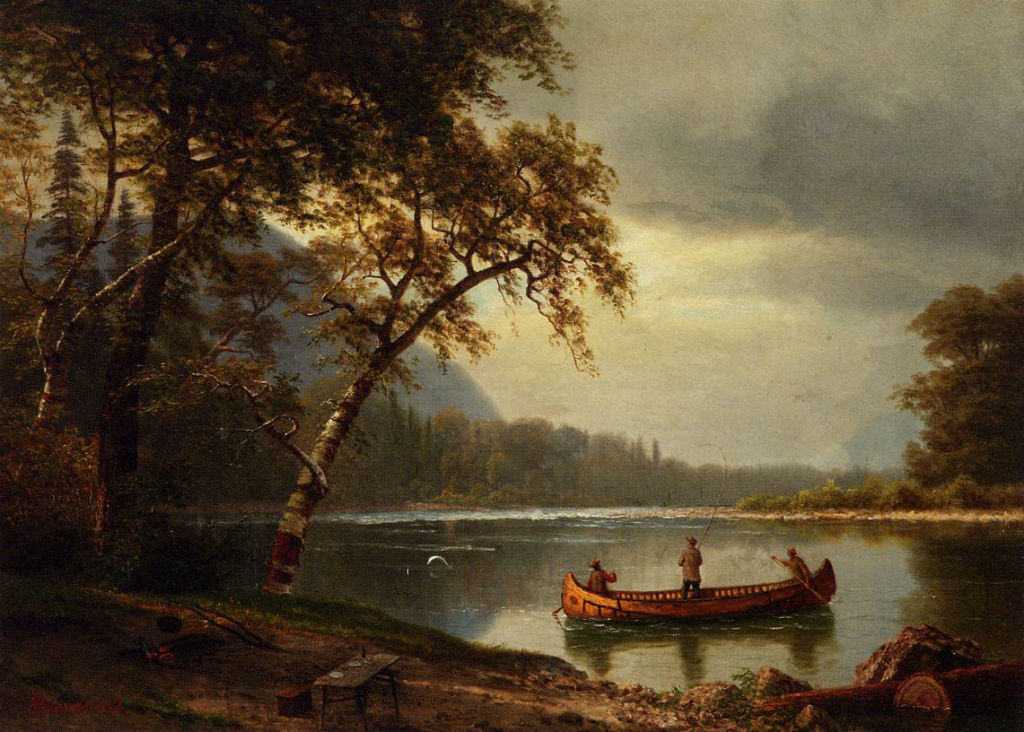 Salmon Fishing On The Cascapediac River by Albert Bierstad