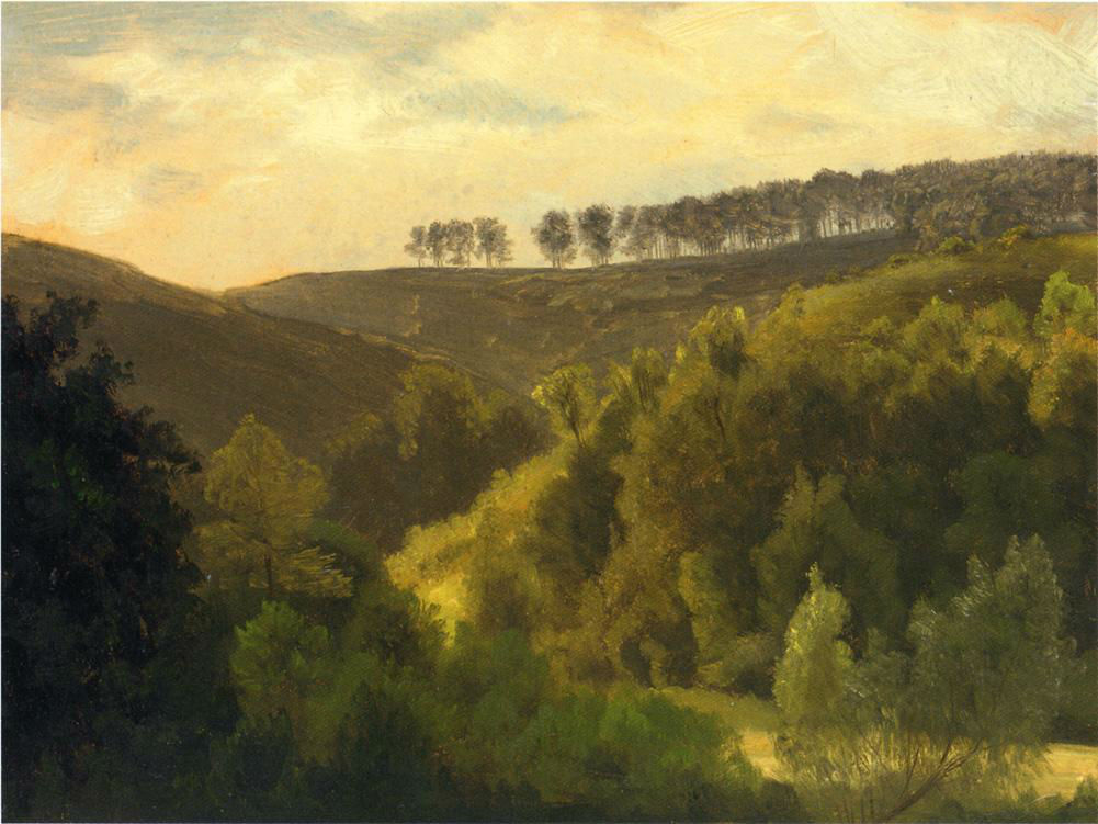 Sunrise Over Forest And Grove by Albert Bierstad