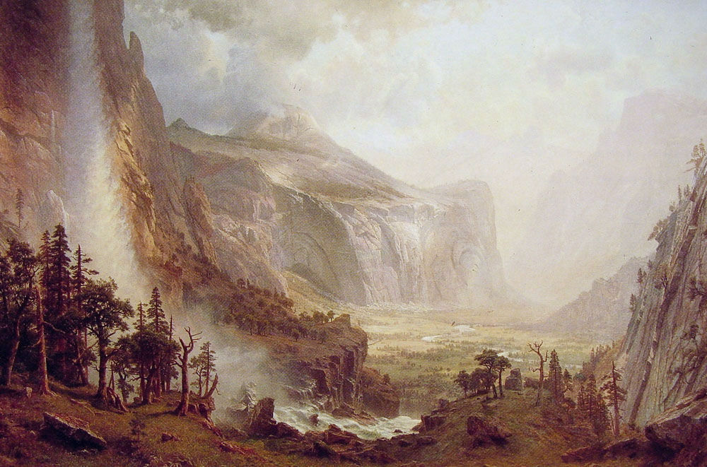 The Domes Of The Yosemite 1867 by Albert Bierstad
