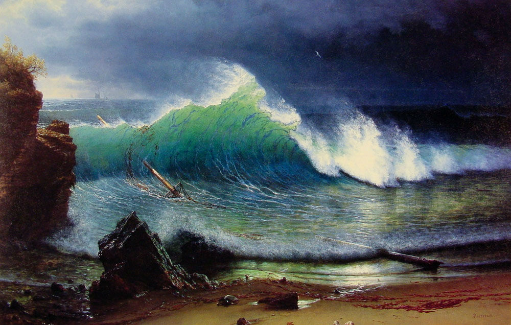 The Shore Of The Turquoise Sea 1878 by Albert Bierstad
