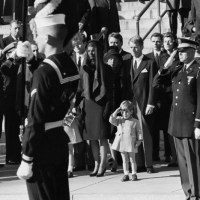 JFK jr salutes JFK