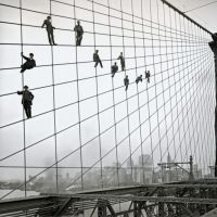 Painters on the Brooklyn Bridge