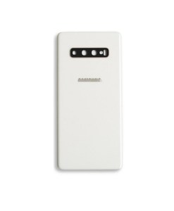 OEM Battery Cover with Camera Glass for Samsung Galaxy S10 Plus - Ceramic White