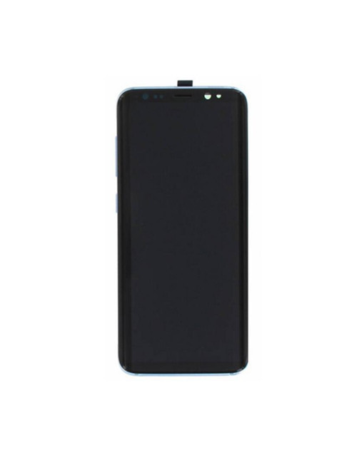 samsung galaxy s8 screen with frame blue