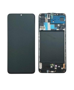 OEM Screen With Frame Replacement For Samsung Galaxy A70 (2019) - Black