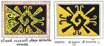 Figura 2. Diseños de textiles (mantas) ilustrados en el Codex Magliabechiano, de ca. 1600. Acerca de la anotación