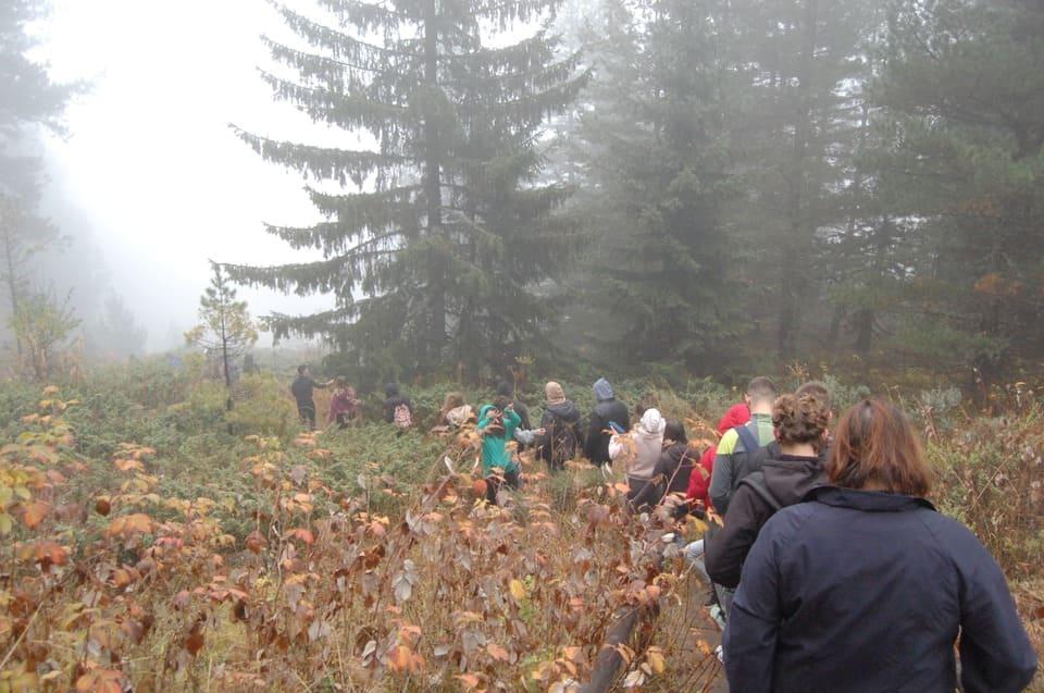 Поход в Пирин по време на есенният семинар в Банско 2019 г. воден от психолозите на Немска гимназия Бургас