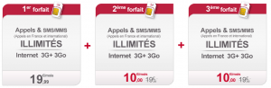 Virgin Mobile forfait sans engagement illimité family and Co