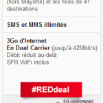 Forfait RED 3Go le moins cher