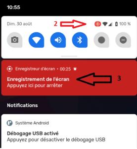 Android 11 , Comment arrêter l'enregistrement vidéo
