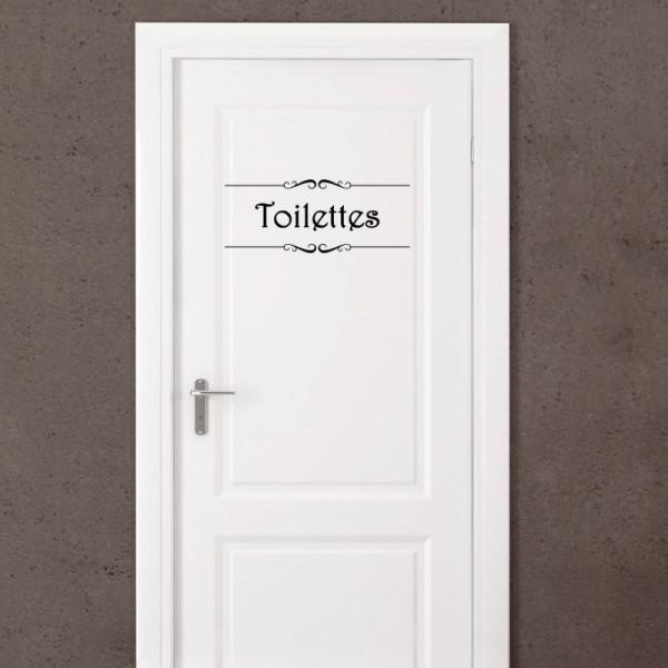 Sticker porte Salle de bain et Toilettes  stickers porte  stickers deco  fanastickcom