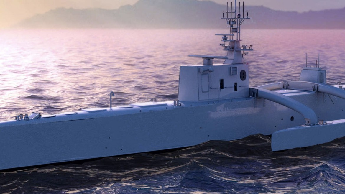 America launches the worlds first fully autonomous submarine hunter